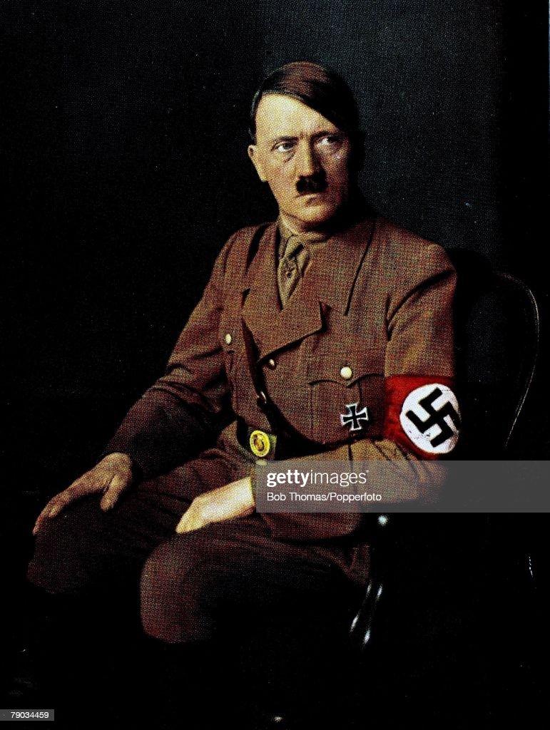 Politics Circa 1930's A portrait of Adolf Hitler German leader and Nazi dictator