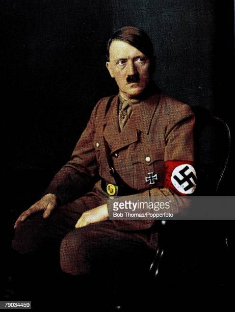 Politics Circa 1930's A portrait of Adolf Hitler German leader and Nazi dictator