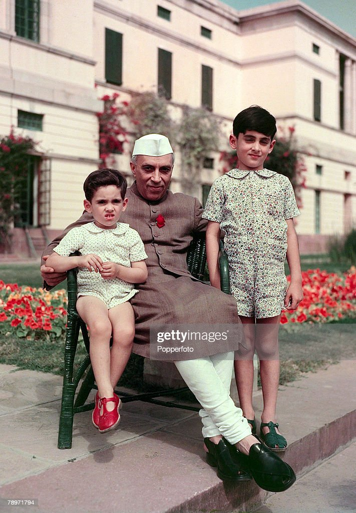 Politics India Jawaharlal Nehru the Prime Minister of India a nationalistic politician who was Prime Minister from 1947 pictured here with his...