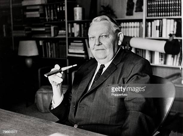 Politics Ludwig Erhard the new German Chancellor pictured at his country house at Gmund in Bavaria 1963