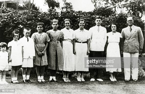 1934 The famous American political family the Kennedy's Leftright Edward Jeane Robert Patricia Eunice Kathleen Rosemary John FKennedy Rose Kennedy...