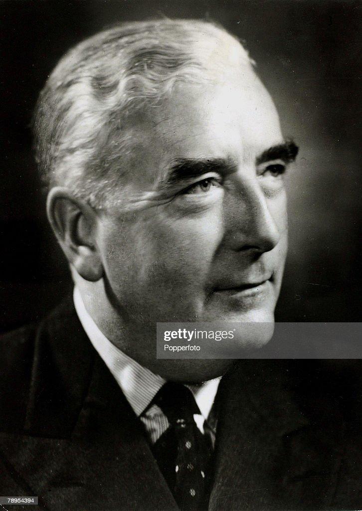 circa 1950's, Australian Prime Minister Robert Menzies, (1894-1978) who was Australia's longest serving Prime Minister