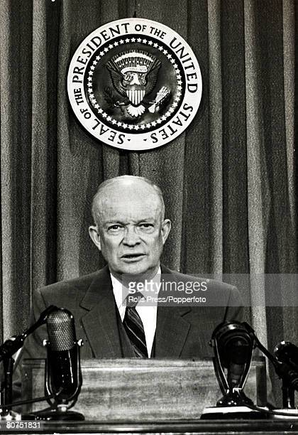 1953 Washington DC President Dwight D Eisenhower speaking from the White House Dwight DEisenhower became the 34th President of the United States...