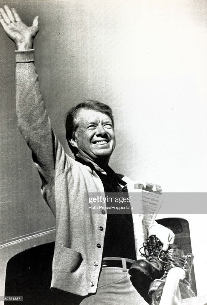 1976 President elect Jimmy Carter arrives for a 5 day vacation on the Georgia coast Jimmy Carter became the 39th President of the United States...