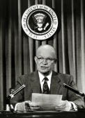 January 1955 President Dwight D Eisenhower in the broadcast room of the White House Dwight DEisenhower became the 34th President of the United States...