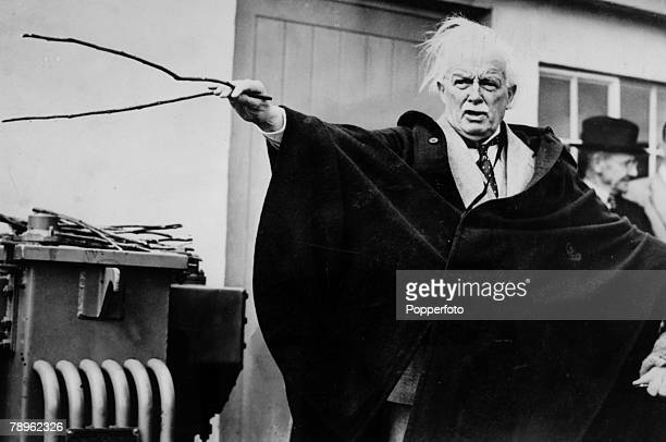 1917 David Lloyd George Welsh Liberal politician Prime Minister of Great Britain 19161922 who is pictured here practising the art of water divining
