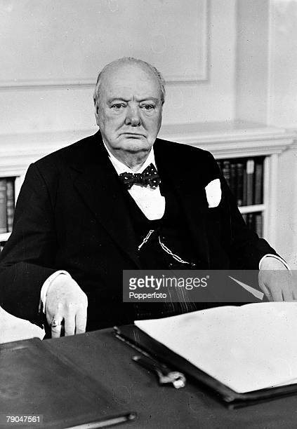 30th November 1954 A portrait of British Prime Minister Sir Winston Churchill taken on his 80th birthday
