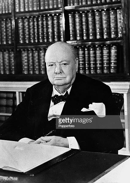 November 1953 British Prime Minister Winston Churchill pictured as he approached his 79th birthday in this portrait study