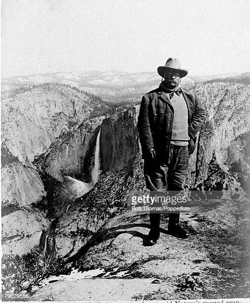 Politics Theodore Roosevelt USPresident 19011909 President Roosevelt stands on Glacier Point in Yosemite National Park California