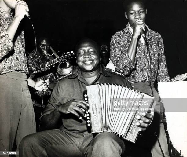 10th April 1972 General Idi Amin Ugandan Dictator born 1925 pictured playing with the Uganda Air Force band Idi Amin seized power in 1971 and was...