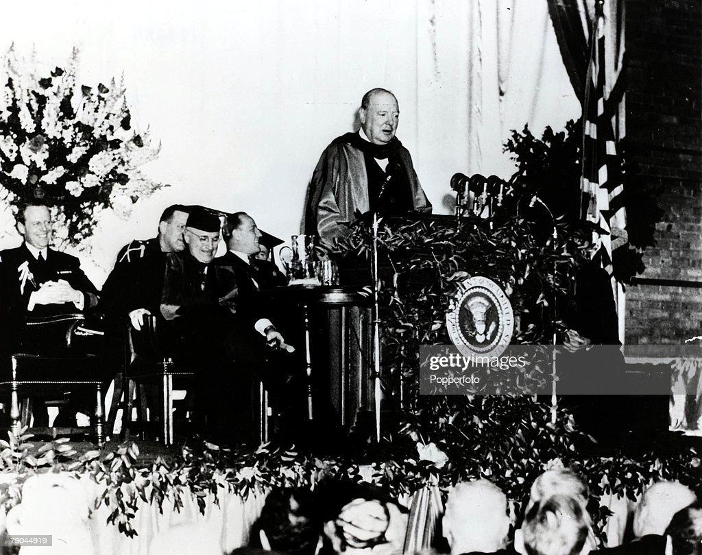Churchill iron curtain speech cartoon - Winston Churchill Iron Curtain Speech Copy Politics Winston Churchill Delivering His Speech The Sinews Of