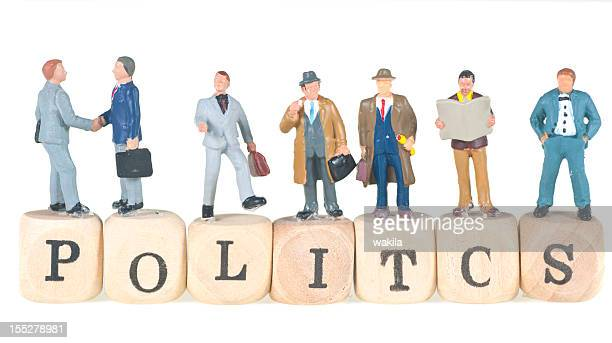 politics word with businessman