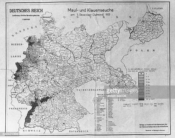 Politische Karte Deutschland 1937