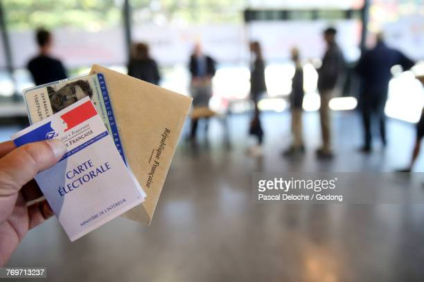 Polling Booth in France. France.