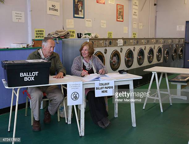 A polling station has been installed in a launderette on May 7 2015 in Oxford England The United Kingdom has gone to the polls to vote for a new...