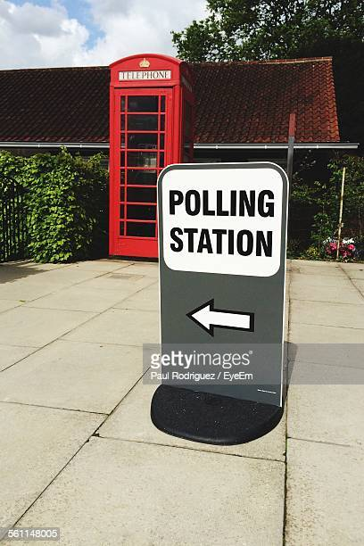 Polling Station Sign On Footpath