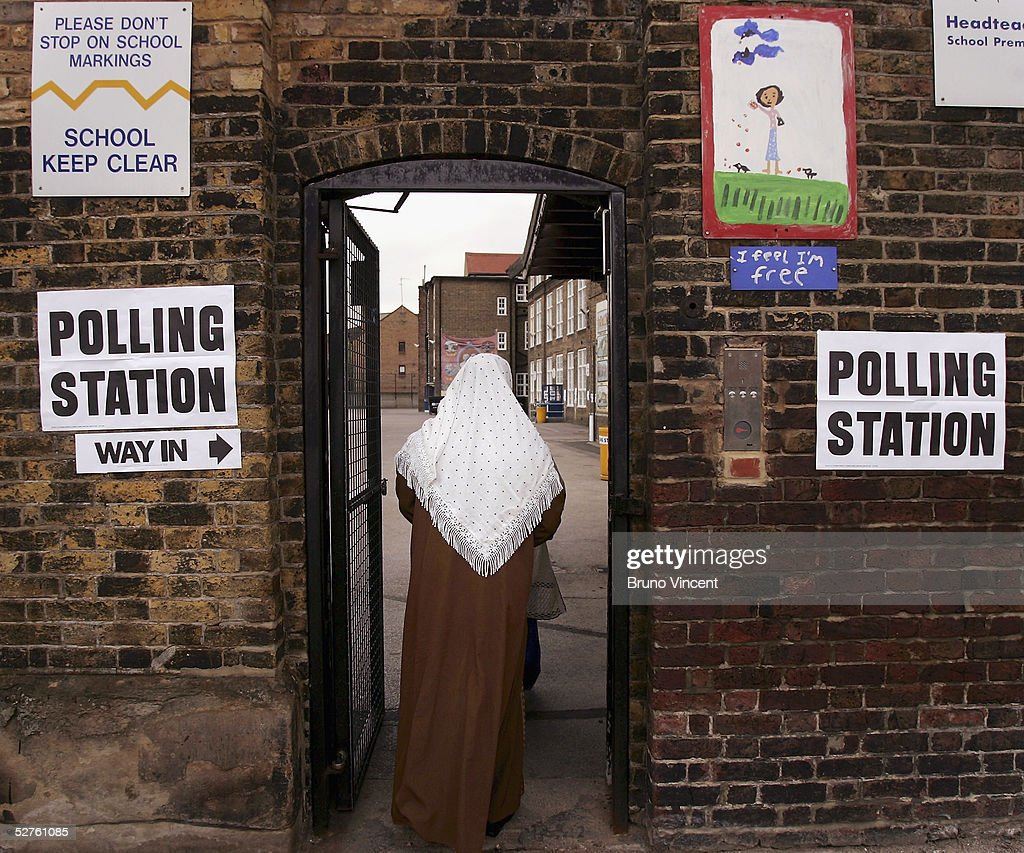 Polling Stations Open For The General Election : Stock Photo
