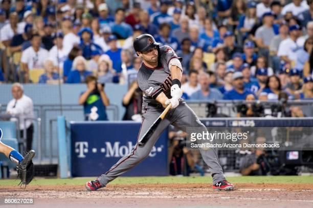 J Pollock of the Arizona Diamondbacks atbat during Game Two of the National League Division Series against the Los Angeles Dodgers at Dodger Stadium...
