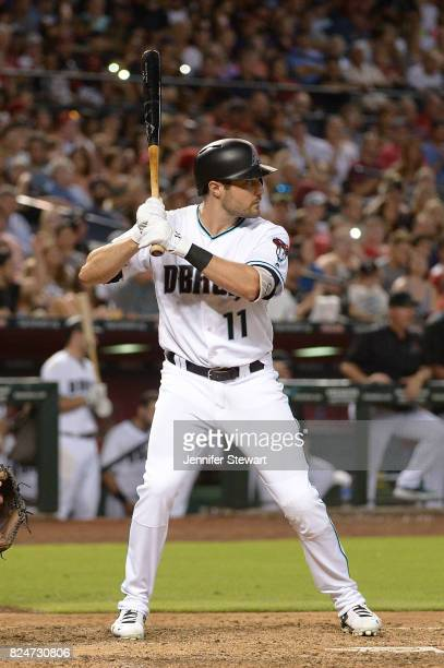 J Pollock of the Arizona Diamondbacks stands at bat against the Washington Nationals at Chase Field on July 21 2017 in Phoenix Arizona