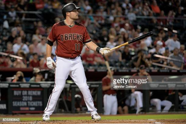 J Pollock of the Arizona Diamondbacks stands at bat against the Atlanta Braves at Chase Field on July 26 2017 in Phoenix Arizona
