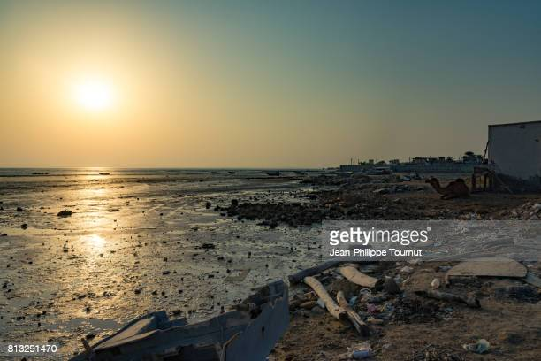 Pollution by the sea in Bandar-e-Laft, Qeshm Island, Persian Gulf, Hormozgan Province, Southern Iran