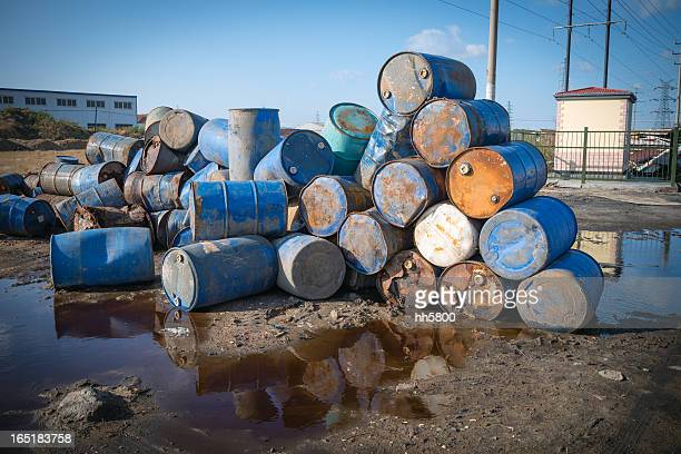 Pollution Chemical Oil Drums