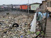Pollution in a neighborthood, Semporna, Sabah, Borneo
