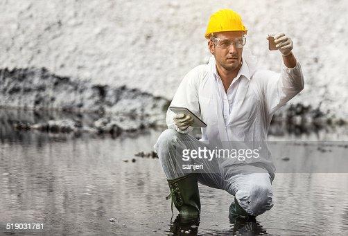Pollution Scientist at work
