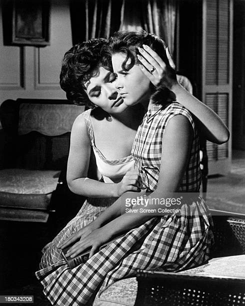 Polly Bergen as Peggy Bowden and Lori Martin as Nancy Bowden in 'Cape Fear' directed by J Lee Thompson 1962