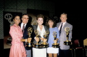 Polly Bergen during 1988 Emmy Award Nominations at Registry Hotel in Los Angeles CA United States