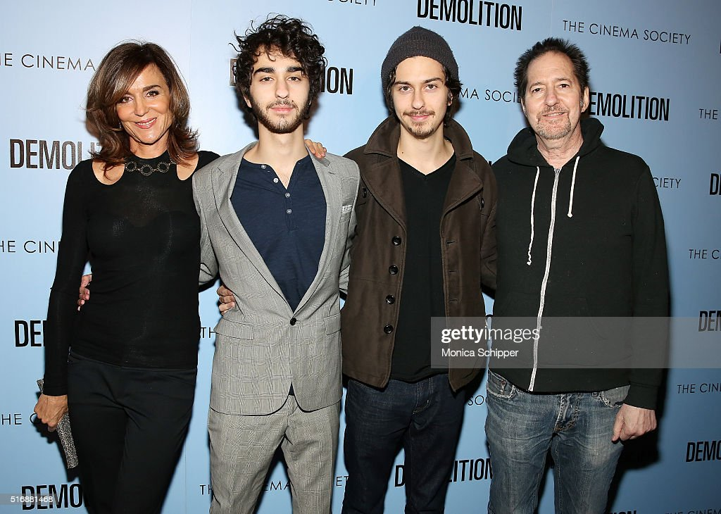 Polly Draper, Alex Wolff, Nat Wolff and Michael Wolff attend Fox Searchlight Pictures with The Cinema Society Host A Screening of 'Demolition' at SVA Theatre on March 21, 2016 in New York City.