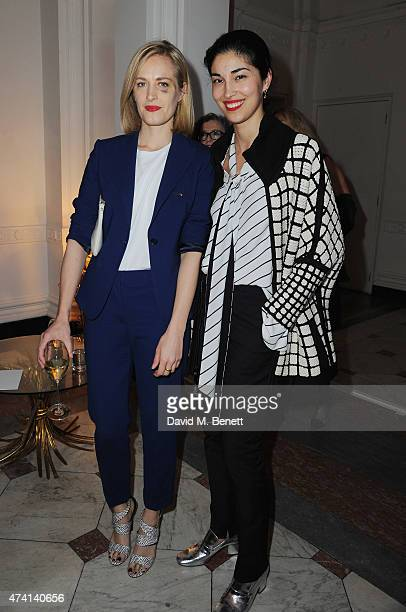 Polly Morgan and Caroline Issa attend a private dinner to celebrate the opening of the new Max Mara London Flagship store at the Royal Academy of...