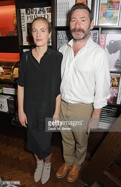 Polly Morgan and Mat Collishaw attend as Charles Finch Efe Cakarel Hikari Yokoyama celebrate new film platform MUBI at Maison Assouline on June 25...