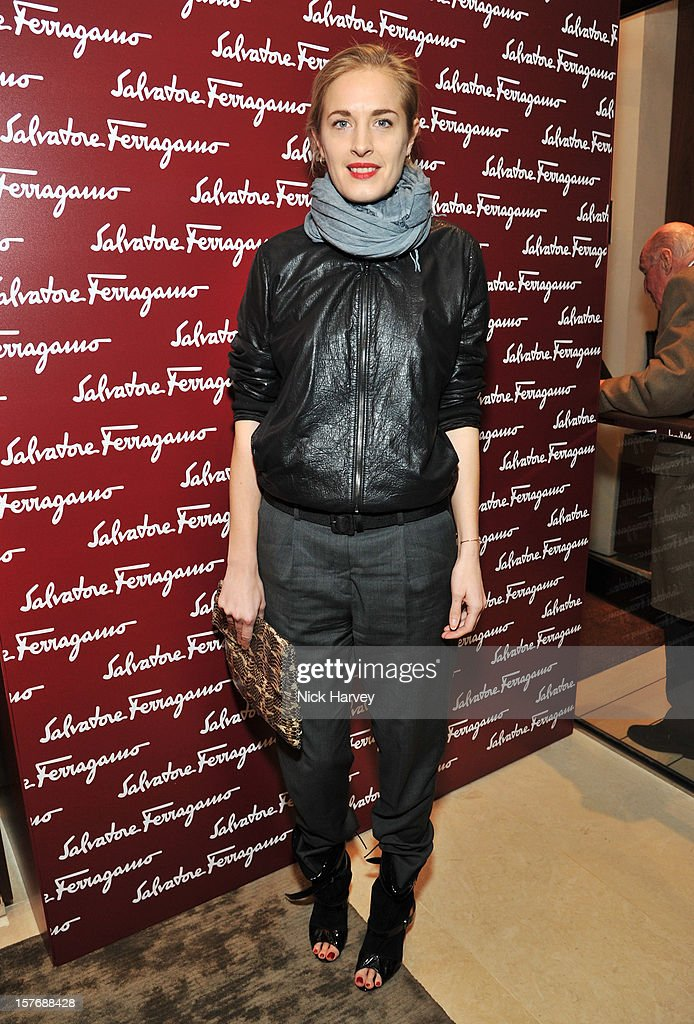 Polly Morgan attends the flagship store launch of Salvatore Ferragamo's Old Bond Street Boutique at 24 Old Bond Street on December 5, 2012 in London, England.