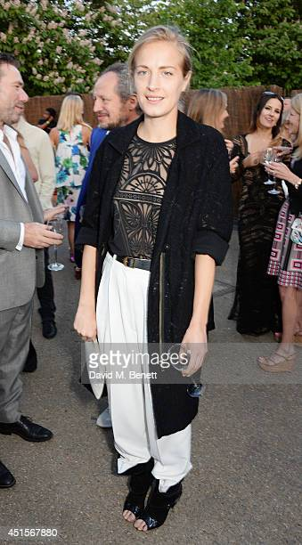 Polly Morgan attends The Serpentine Gallery Summer Party cohosted by Brioni at The Serpentine Gallery on July 1 2014 in London England