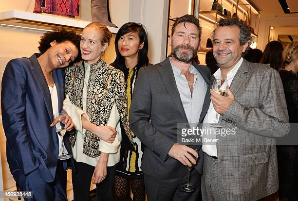 Polly Morgan Mimi Xu Mat Collishaw and Mark Hix attend cocktail reception hosted by Pierre Denis CEO and Sandra Choi Creative Director of Jimmy Choo...