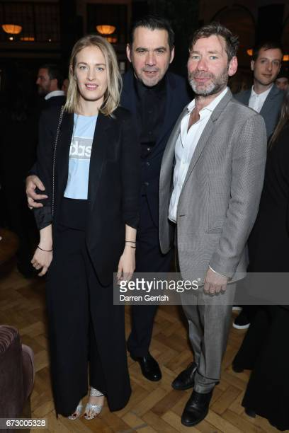 Polly Morgan Roland Mouret and Mat Collishaw attend Roland Mouret's The Dinner of Love at Cecconi's a preopening dinner at The Ned on April 25 2017...