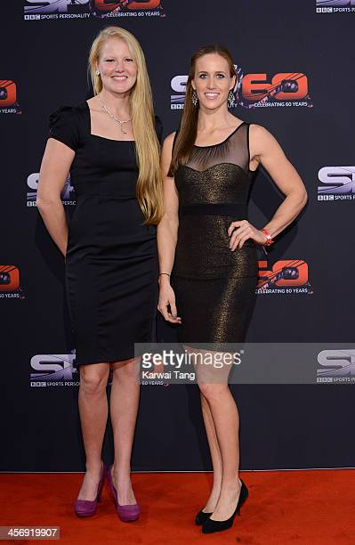Polly Swann and Helen Glover attend the BBC Sports Personality of the Year awards held at the First Direct Arena on December 15 2013 in Leeds England