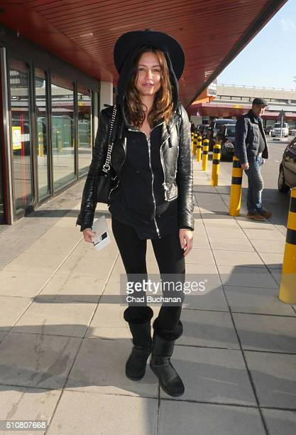 Pollyanna Uruena sighted at Tegel Airport on February 17 2016 in Berlin Germany