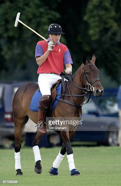 Polo At Cirencester In Gloucestershire Prince William Playing A Match In The Team ' Highgrove ' Named After His Home His Team Won The Match