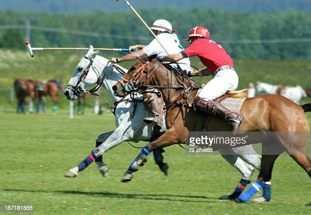 Polo player in full speed