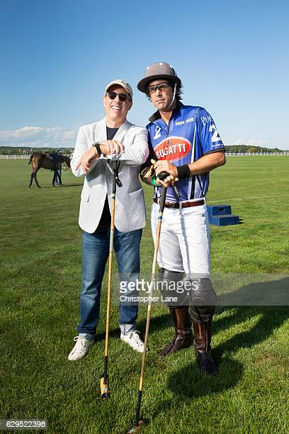 Polo player Nacho Figueras and comedian Jerry Seinfeld are photographed for The London Times on August 7 2016 in Hampton New York
