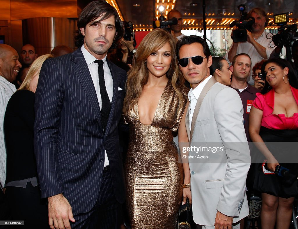 Polo player Nacho Figueras, Jennifer Lopez, and Marc Anthony attend the 2010 Apollo Theater Spring Benefit Concert & Awards Ceremony at The Apollo Theater on June 14, 2010 in New York City.