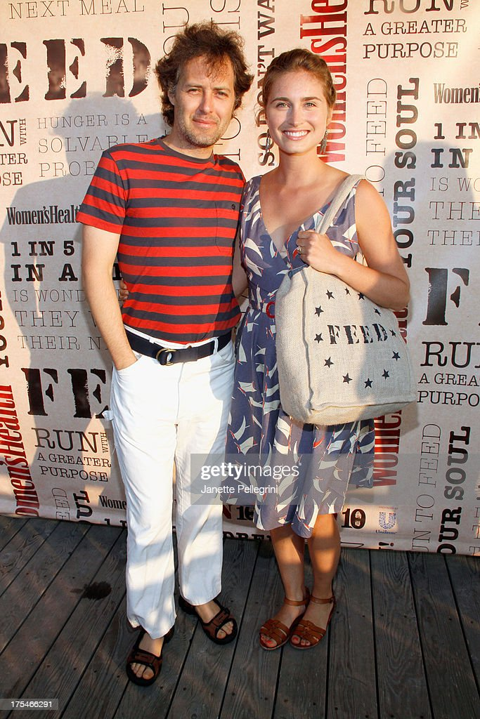 Polo Ralph Lauren, David Lauren (L) and Founder of the FEED Foundation Lauren Bush Lauren attend Women's Health Hamptons 'Party Under the Stars' for RUN10 FEED10 at Bridgehampton Tennis and Surf Club on August 3, 2013 in Bridgehampton, New York.