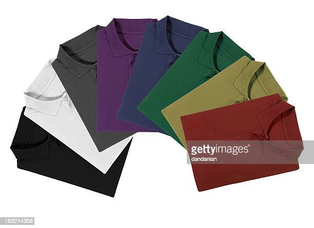 polo shirt rainbow - clipping path