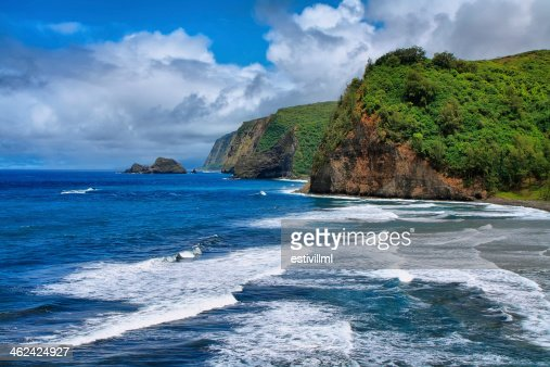 Pololu Valley view in Hawaii : Stock Photo