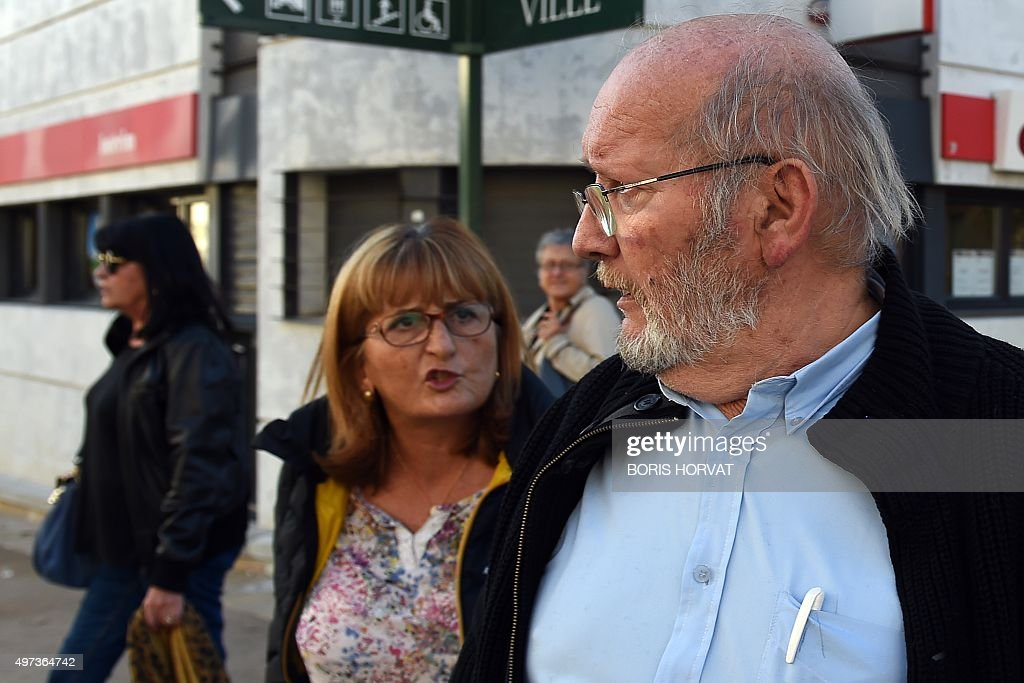 Poly Implant Prothese (PIP) founder Jean-Claude Mas (R) arrives to the courthouse on November 16, 2015 in Aix-en-Provence, for his appeal trial, after having been sentenced in an initial trial to four years of imprisonment for allegedly selling faulty breast implants that sparked global health fears. PIP company was shut down on March 2010 and its product banned after it was revealed to have been using non-authorised silicone gel that caused abnormally high rupture rates of its implants. AFP PHOTO / BORIS HORVAT