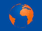 World planet, 3d earth sphere illustration