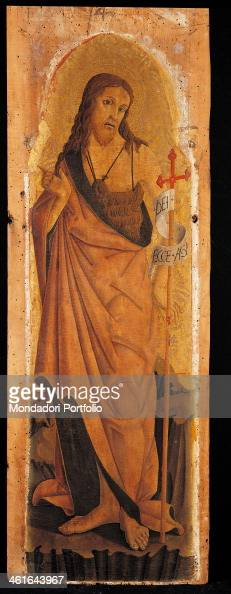 Polyptych of Monterubbiano by Pietro Alemanno 15th Century tempera on board5 x 33 cm Italy Lombardy Milan Brera Accademy of Fine Arts Collection...