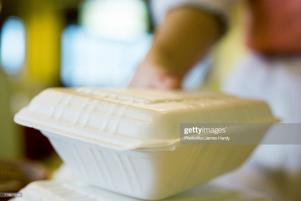 Polystyrene containers : Stock Photo